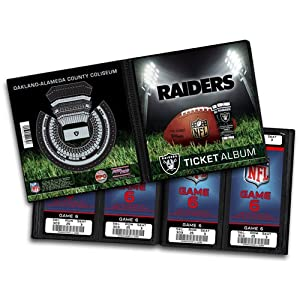 NFL Oakland Raiders Ticket Album by That
