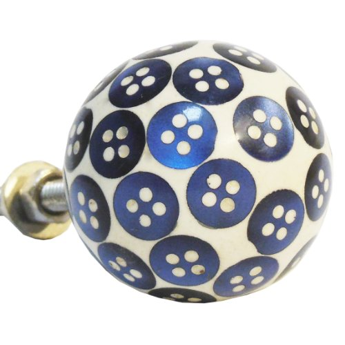 P56 - Blue Button Resin Knob
