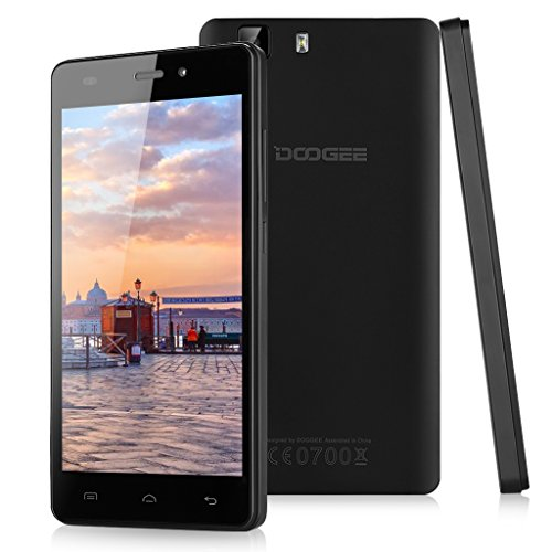 Doogee X5 – Smartphone libre Android (pantalla 5″, cámara 8 Mp, 8 GB, Quad-Core 1.3 GHZ, 1 GB RAM), color negro