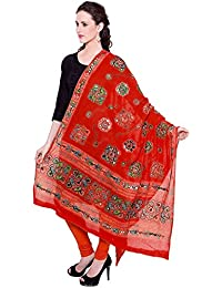 Dupatta / Stole Cotton For Women - Thread Embroidered Traditional Designer Aari Work Chakachak Dupattas - Available...