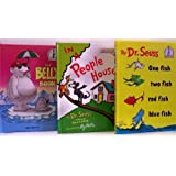 One Fish Two Fish Red Fish Blue Fish / In A People House / The Belly Book -3 Book Set (I Can Read It ~ Dr. Seuss