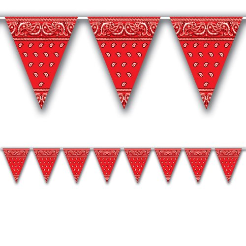 Bandana Pennant Banner Party Accessory (1 count) (1/Pkg) - 1