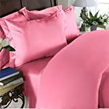 Elegant Comfort 1500 Thread Count Wrinkle Resistant Egyptian Quality Ultra Soft Luxurious 4-Piece Bed Sheet Set, Queen, Light Pink