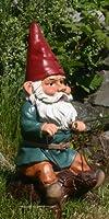 """Garden Gnome Riding Turtle 14"""" from GardenGnomeWorld.com"""