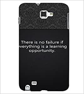 PrintDhaba Quote D-2648 Back Case Cover for SAMSUNG GALAXY NOTE 1 (Multi-Coloured)