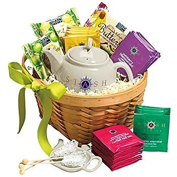 Tea, Cookies and Teapot Gift Basket