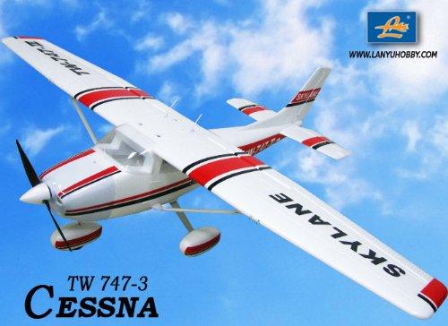 New 6 Ch 2.4Ghz Cessna 182 Skylane Radio Remote Control Rc Airplane Rtf W/ Epo Durability + With Flaps