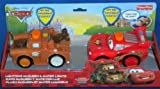 Disney Pixar Cars 2 Talking Flashlights Lightning McQueen & Mater Fisher Price Mattel New