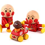 Dimart Wooden Japanese Cartoon Anpanman Baby Toy - Flexible Joint Movement - Red