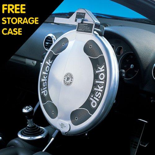 Full Cover Medium Silver Car Security Disklok