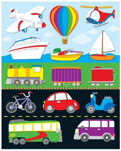 Carson Dellosa Transportation Shape Stickers (168027)