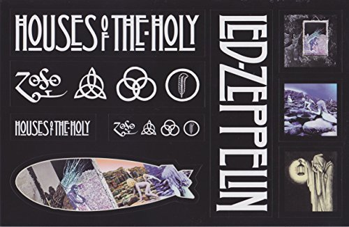 Led Zeppelin - Sticker Sheet - 9 Stickers - 2014 Remasters - Houses Of The Holy & Led Zeppelin Iv