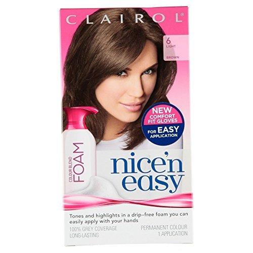 3-x-clairol-nicen-easy-permanent-colour-blend-foam-6-light-brown