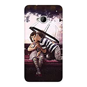 Gorgeous Kid Kiss Back Case Cover for HTC One M7