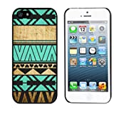 Zeimax® UV Case for iPhone 5 5S - Aztec Pattern on Wood