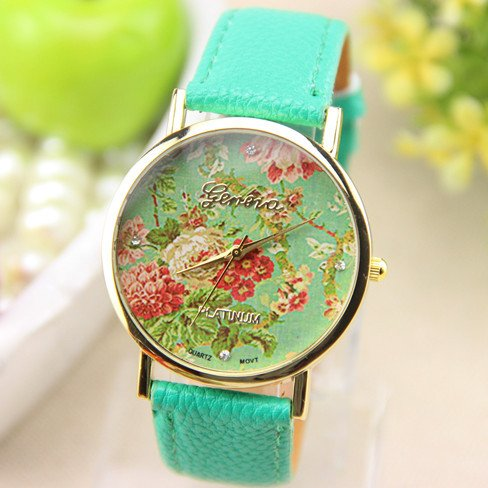 New Fashion Geneva Rose Flower Watch For Women Quartz Dress Watch front-793431