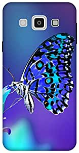 The Racoon lovely butterfly night hard plastic printed back Case for Samsung Galaxy E7