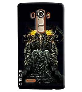 Omnam Skelton Man Sitting Printed Designer Back Cover Case For LG G4