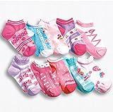 【 Angel Kids 】 ショート丈 女児 靴下 ジュニア 10足 セット キッズ ピンク 女の子