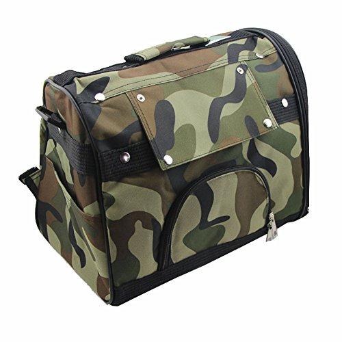B-JOY Pet Carrier Soft Sided Cat Dog Backpack / Shoulder Bag / Sling Bag Multiple Function Dog Travel Carrier Bag (M-45cm*23cm*30cm, Army Camouflage)
