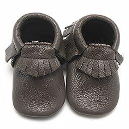 Sayoyo Baby Tassels Soft Sole Leather Infant Toddler Prewalker Shoes (12-18 months, Color 3)