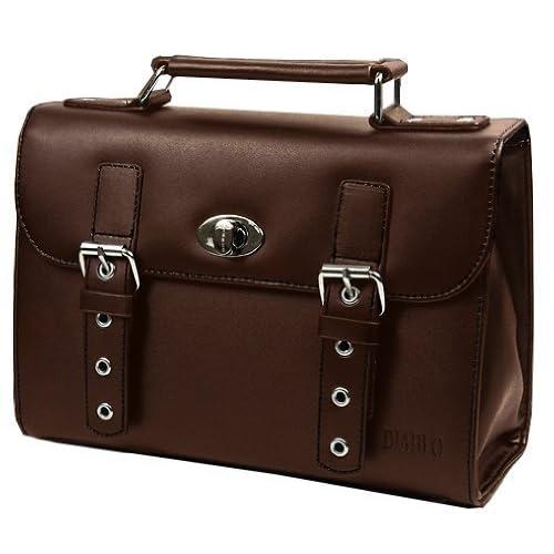 DIABLO セカンドバッグ(ビジネスバッグ) メンズ 牛革 KA-2092 【ブラウン×ブラック】 [ウェア&シューズ]