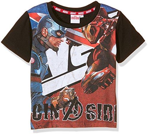 Marvel - T-shirt Captain America Civil War, Maglietta da bambini e ragazzi, nero, 5