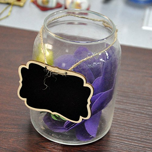 UCEC-Mini-Erasable-ChalkboardsDouble-Sided-Blackboard-with-Hanging-StringSuit-for-MarkersChalks-for-Message-Board-SignsFood-LabelsWedding-Partiespack-of-12