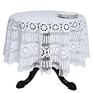 Amazon.com: SARO LIFESTYLE 869 Crochet Tablecloths, 30