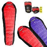 Outdoor Vitals 15 Degree Down Sleeping Bag, Mummy Style, 3 Season, Lightweight (Red)