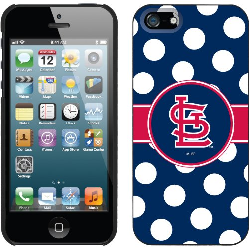 Great Price St. Louis Cardinals - Polka Dots design on a Black iPhone 5s / 5 Thinshield Snap-On Case by Coveroo
