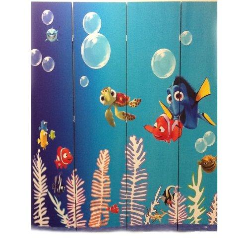 Ore International 4-Panel Room Divider, Finding Nemo front-968660