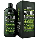 Premium MCT Oil made from ONLY Organic Coconuts (32oz BPA-free bottle); Packed with Healthy Fats for Sustained Energy ; Odorless, Tasteless and Easy to Mix; GMO and Gluten Free, Vegan/Vegetarian Safe.