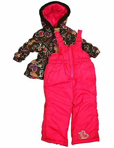 Pink Platinum - Baby Girls 2 Piece Snowsuit, Black, Fuchsia 34915-12Months front-833296