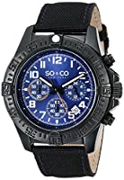 SO&CO York Men's 5016.3 Yacht Club Analog Display Japanese Quartz Black Watch from SO&CO New York