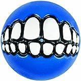 Rogz Grinz Treat Ball Dog Toy, Medium Blue
