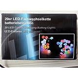 Led Lichterkette 10 oder 20 Lämpchen Farbwechsel RGB batteriebetrieben 20 Lämpchen