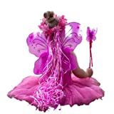 Pink & Hot Pink 5 Piece Fairy Princess Costume Set