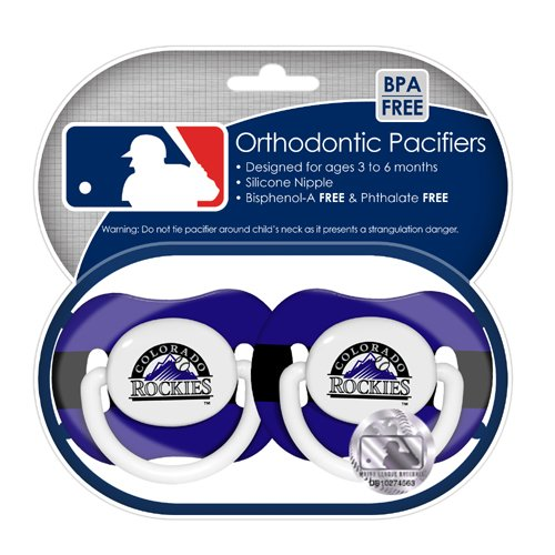 Mlb Colorado Rockies Pacifiers, 2-Pack front-955511
