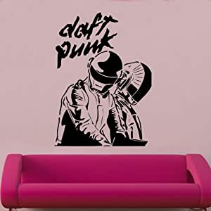 Kult kanvas daft punk album cuver decal vinyl for Daft punk mural
