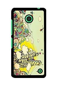 Caseque City Art Back Shell Case Cover for Nokia Lumia 630