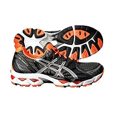 ASICS Men's GEL-Nimbus 12 Running Shoe,Black/Lightning/Orange,13 M US