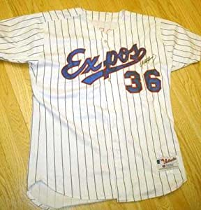 Tony Armas Jr. autographed Game Used Baseball Jersey (Montreal Expos)