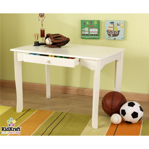 Kidkraft Avalon Kids Table W/ Pull Out Drawer (Vanilla) front-1040508