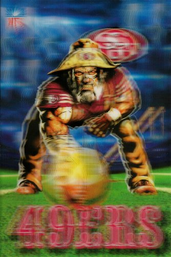 San Francisco 49ers Mascot X 3D Xtreme NFL Power Card at Amazon.com
