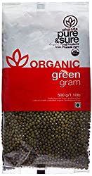 Pure & Sure Organic Green Gram Whole, 500g