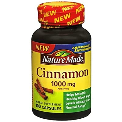 Nature Made Cinnamon Capsules 1000 Mg, 100 Count