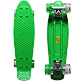 Rimable Complete 22' Skateboard with Flashing Wheels£¨2 Wheels Green...