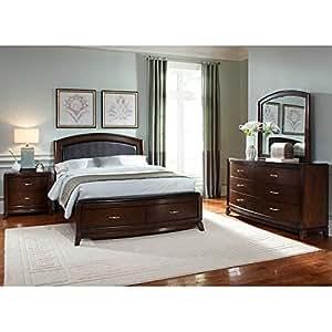 avalon storage bedroom set queen