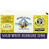 Henry and Lisa's Natural Seafood Low Sodium Solid White Albacore Tuna Can, 5 Ounce by Henry & Lisa's Natural Seafood